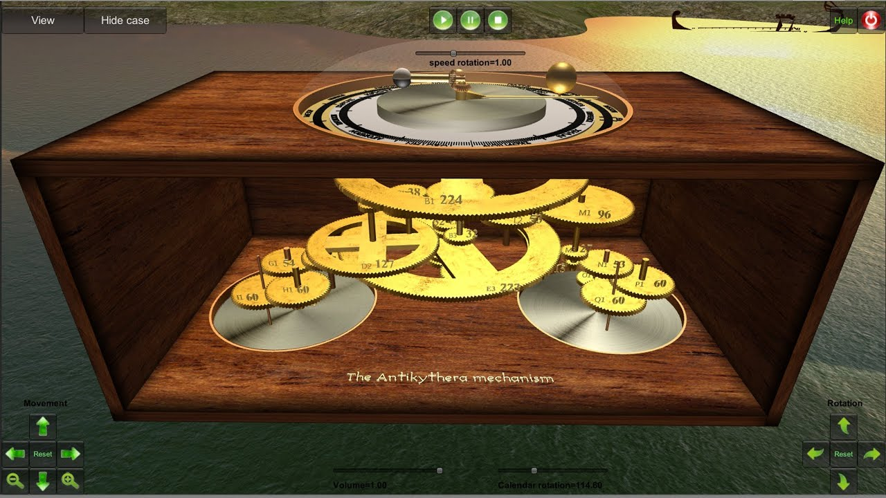 3d Interactive Simulation Of The Antikythera Mechanism