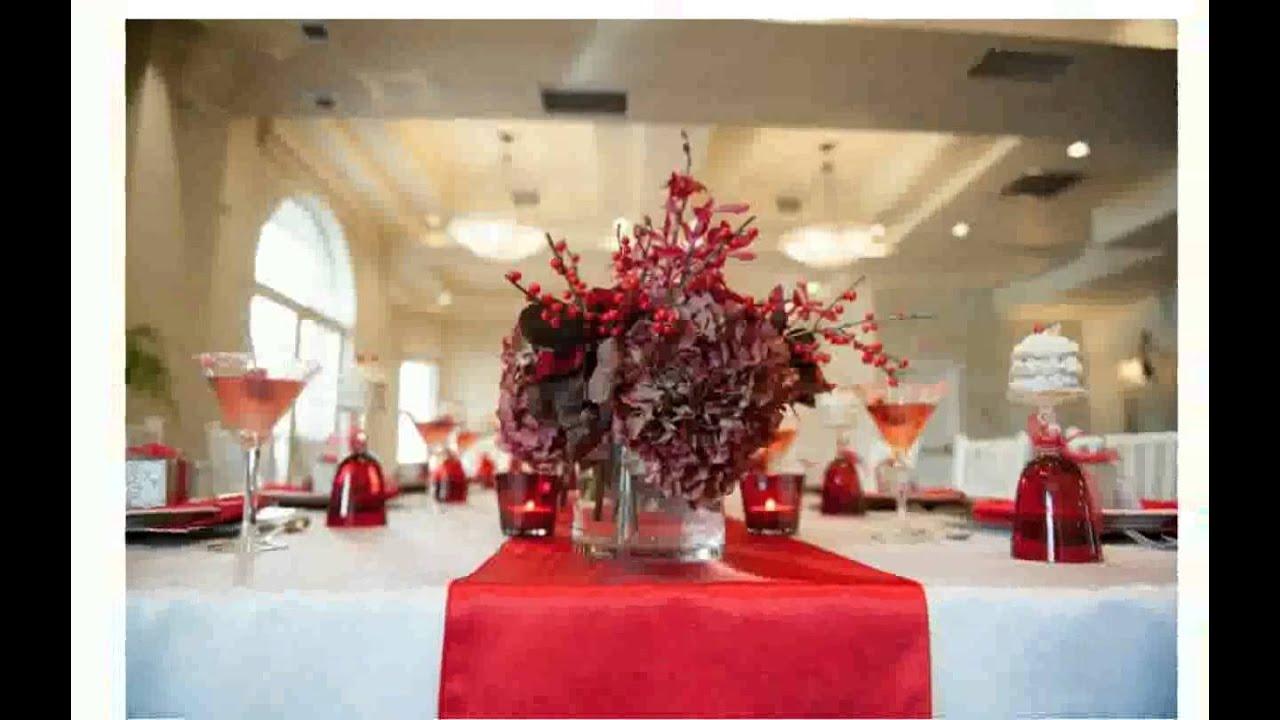 Christmas Wedding Reception Centerpieces