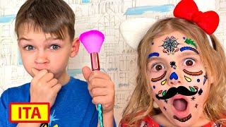 Cinque Bambini - Vania gioca con i trucchi per i bambini