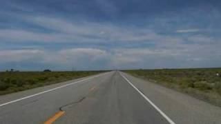 Driving west on U.S. Highway 160 through the San Luis Valley, Colorado