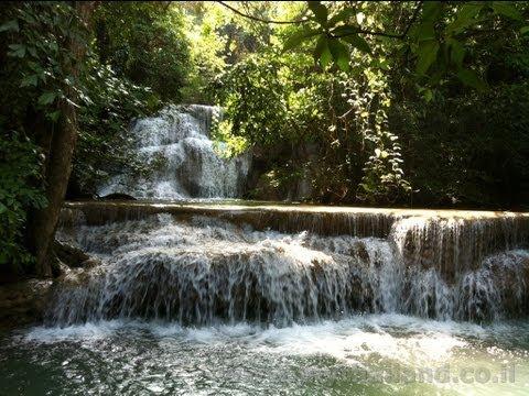 Huai Mae Khamin Waterfalls - Kanchanaburi Thailand