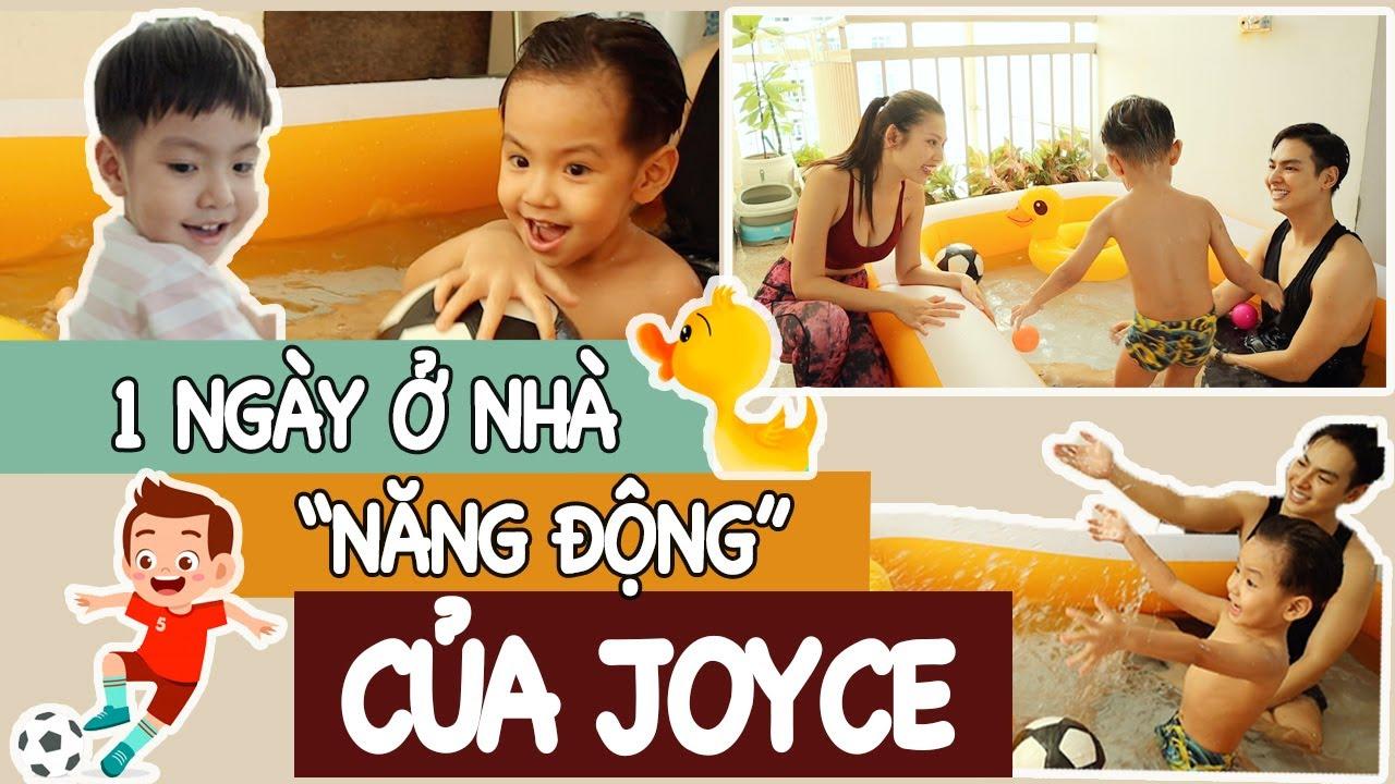 Ở NHÀ QUẬY BANH NÓC VỚI JOYCE!!! ⚽️🛴💦 | Vừa vui vừa khoẻ mùa dịch 💡 | JMJ Family Vlog