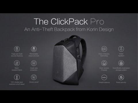 ClickPack Pro - ranac zaštićen od krađe