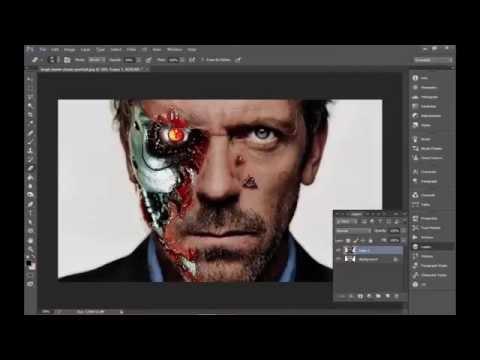 photoshop tutorial terminator face