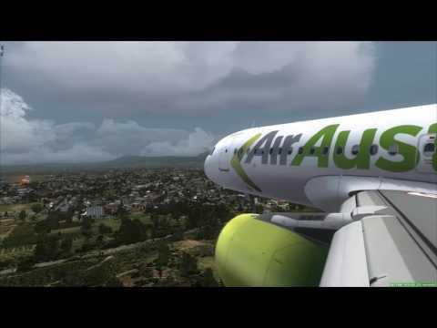 AirAustralia A320 xwind landing at Banda Aceh [FSX]