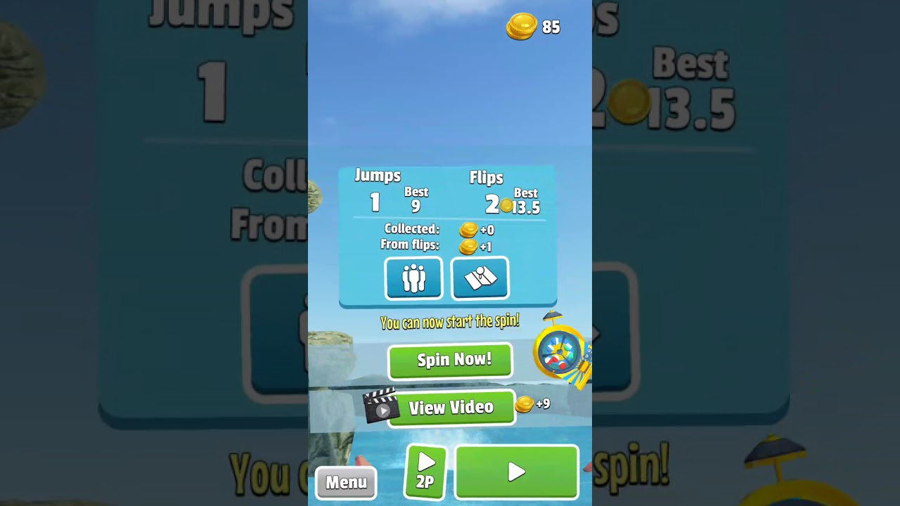 game called flip diving