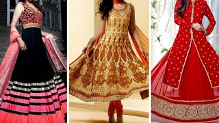 Wow!! Anarkali Dress Designs 2018 || Latest Fashion Expesive Dresses For Wedding Function & Party