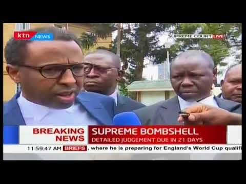 Uhuru Kenyatta's lawyers react to the final Supreme Court ruling
