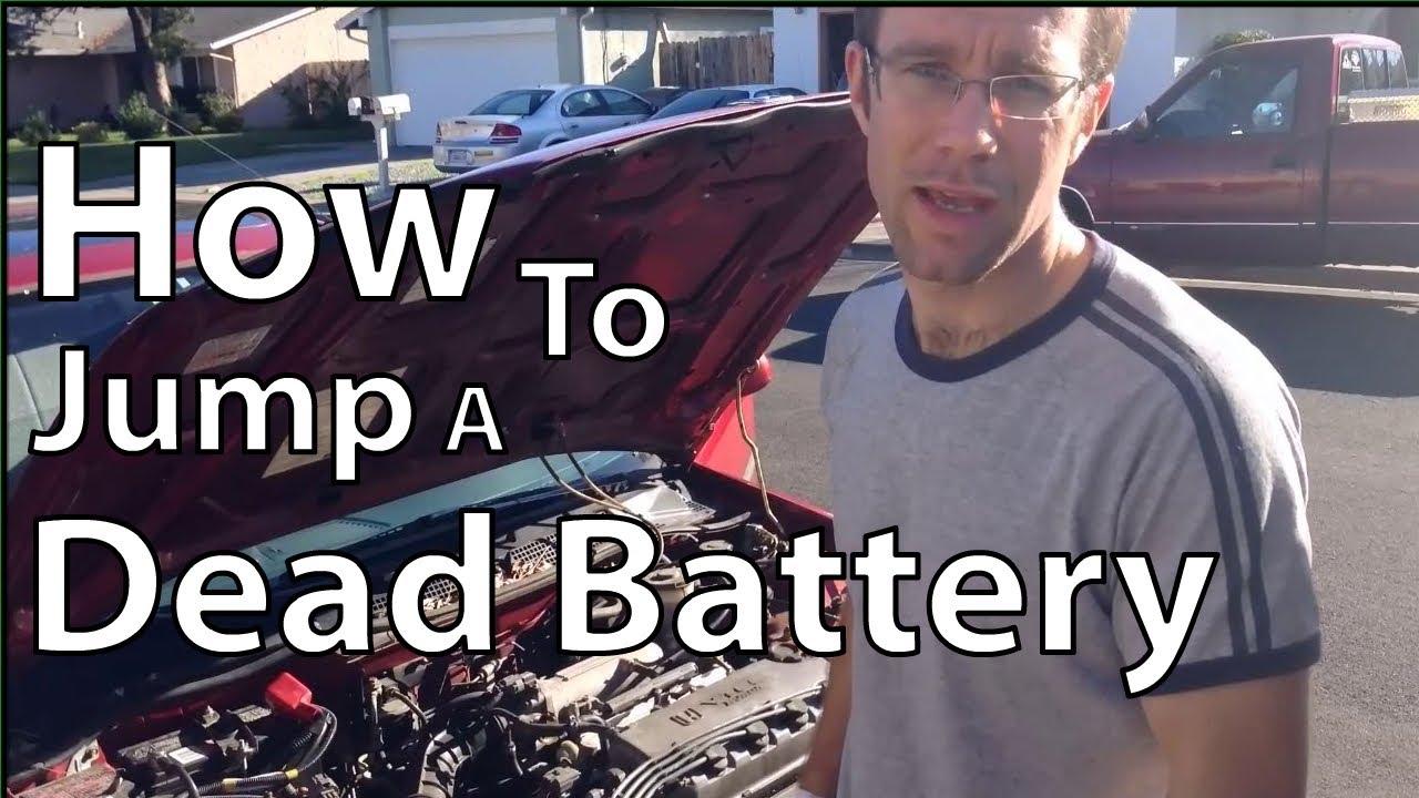 how to jumpstart a dead car battery youtube. Black Bedroom Furniture Sets. Home Design Ideas