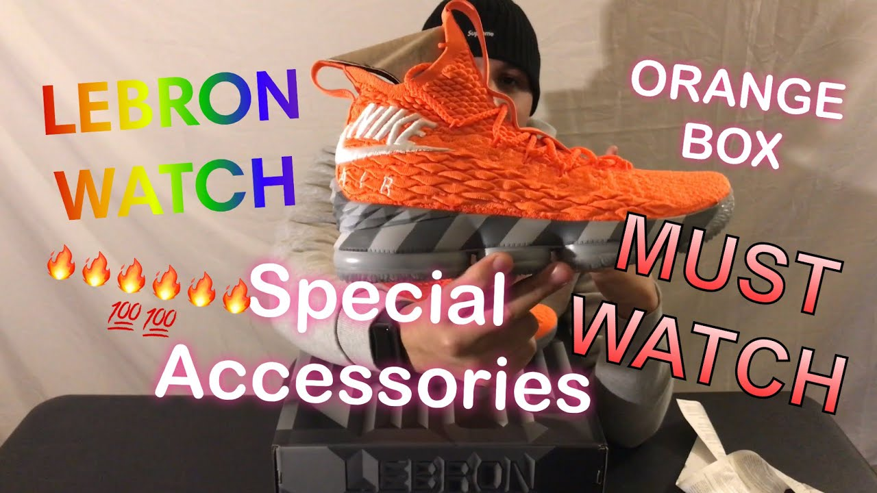 detailed look 1a9e3 f21de 🚨LEBRON JAMES 15 ORANGE BOX VERY LIMITED ( LEBRON WATCH) WITH SPECIAL  ACCESSORIES 🚨🚨🚨‼️‼️‼️‼️‼️
