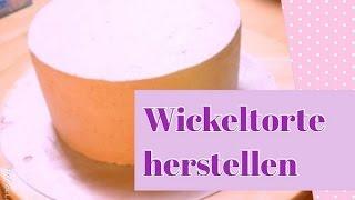 Wickeltorte aus Biskuit mit Himbeer-Sahne-Füllung   Teil 1   Torten Basic Tutorial