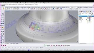 How to project text on a curved surface in Rhinoceros 3D
