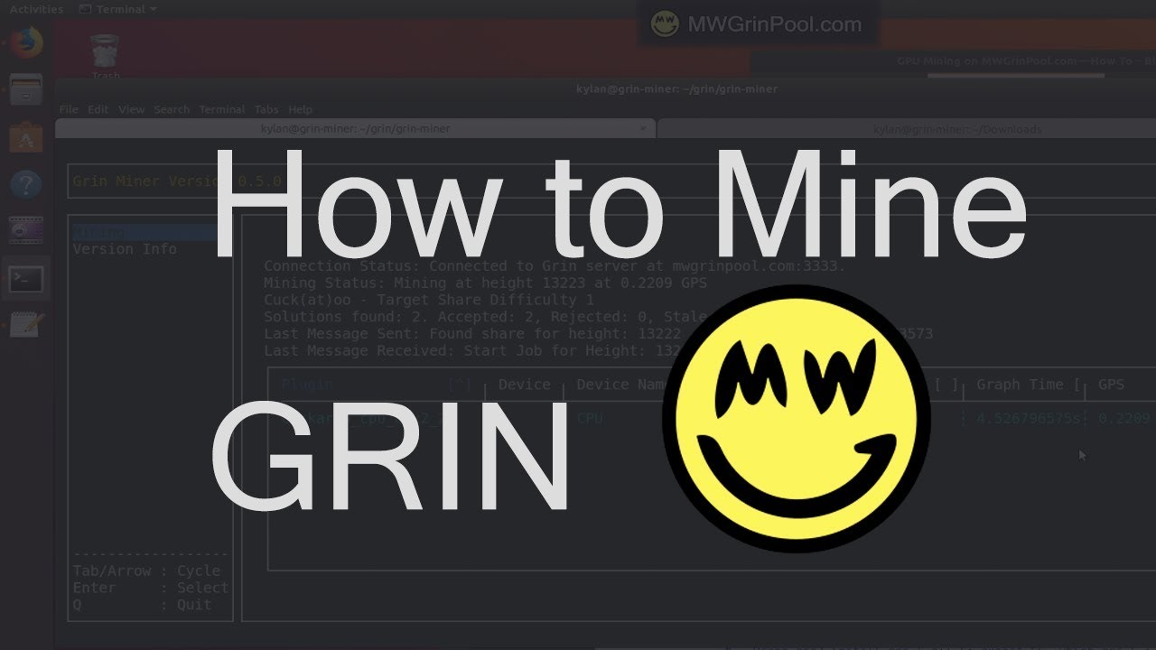 Mine GRIN with Mining Pool (Ubuntu + Nvidia) | Blockchain