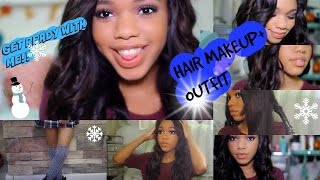 Get ready with me! makeup, hair and Outfit!! Thumbnail