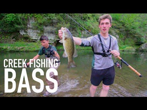 Creek Fishing Smallmouth Bass -- Senko and Topwater
