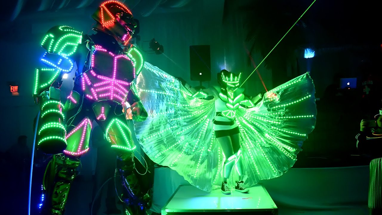 Leaan S Bat Mitzvah Led Robot Amp Entertainment In