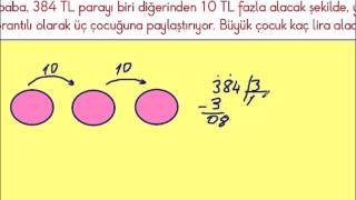 2015 Yeni 4  Sınıf Matematik Bölme İşlemi Problemleri 02