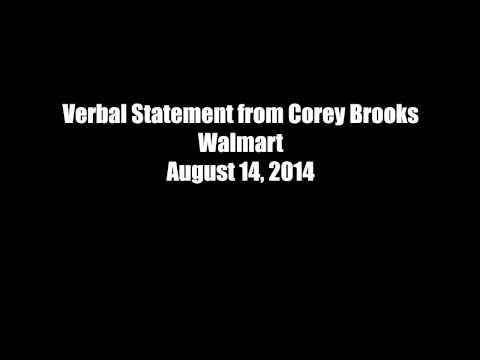 Verbal Statement from a Walmart employee regarding the shooting of John Crawford