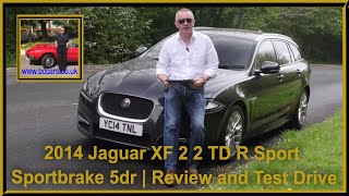 Review and Virtual Video Test Drive In Our 2014 Jaguar XF 2 2 TD R Sport Sportbrake 5dr YC14TNL