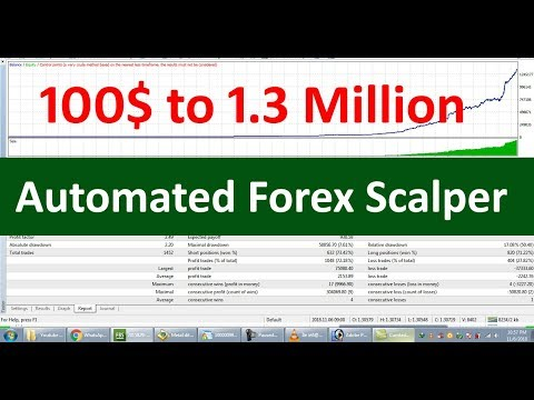 100$ to 1.3 Million in 14 Months - Auto Trading with Scalper Software