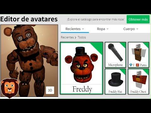 CREAMOS el PERFIL de FREDDY en ROBLOX | FIVE NIGHTS AT FREDDY'S ROBLOX PERFIL LEON PICARON thumbnail