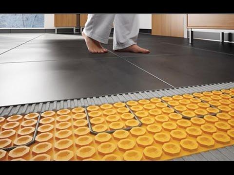 Badkamer Renoveren Met Schluter Ditra Heat Elektrische Vloerverwarming Youtube