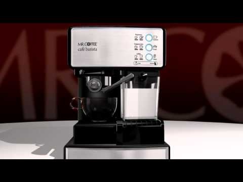 Mr. Coffee Cafe Barista Espresso, Latte & Cappuccino Maker w/Grinder with Stacey Stauffer
