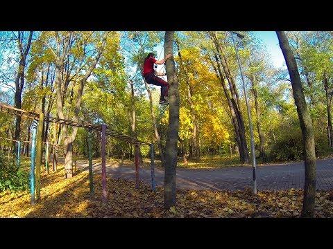 Как залезть на дерево при помощи веревки