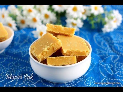 mysore pak recipe diwali sweets youtube - Jeyashris Kitchen