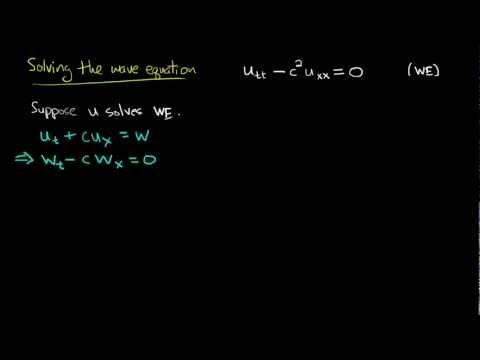 PDE 9   Wave equation: general solution