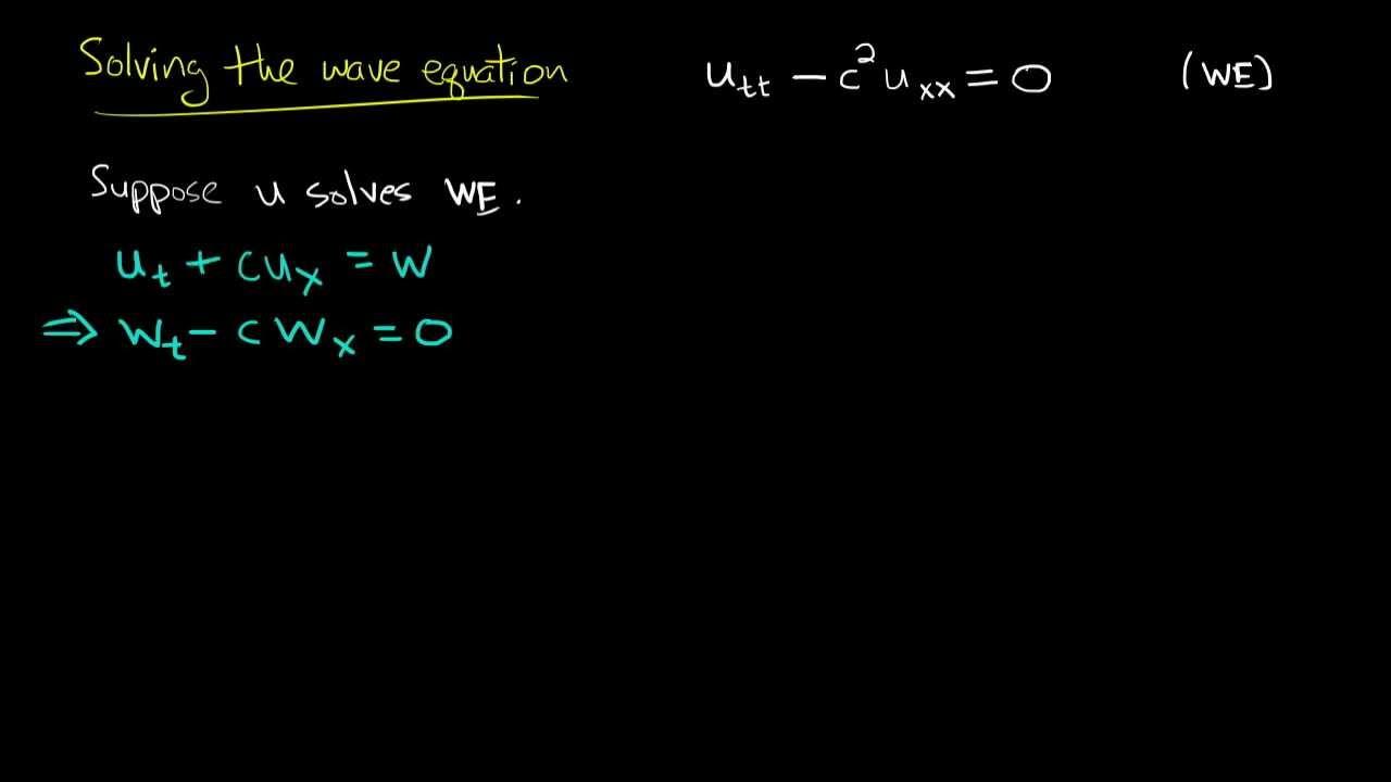 PDE 9 | Wave equation: general solution