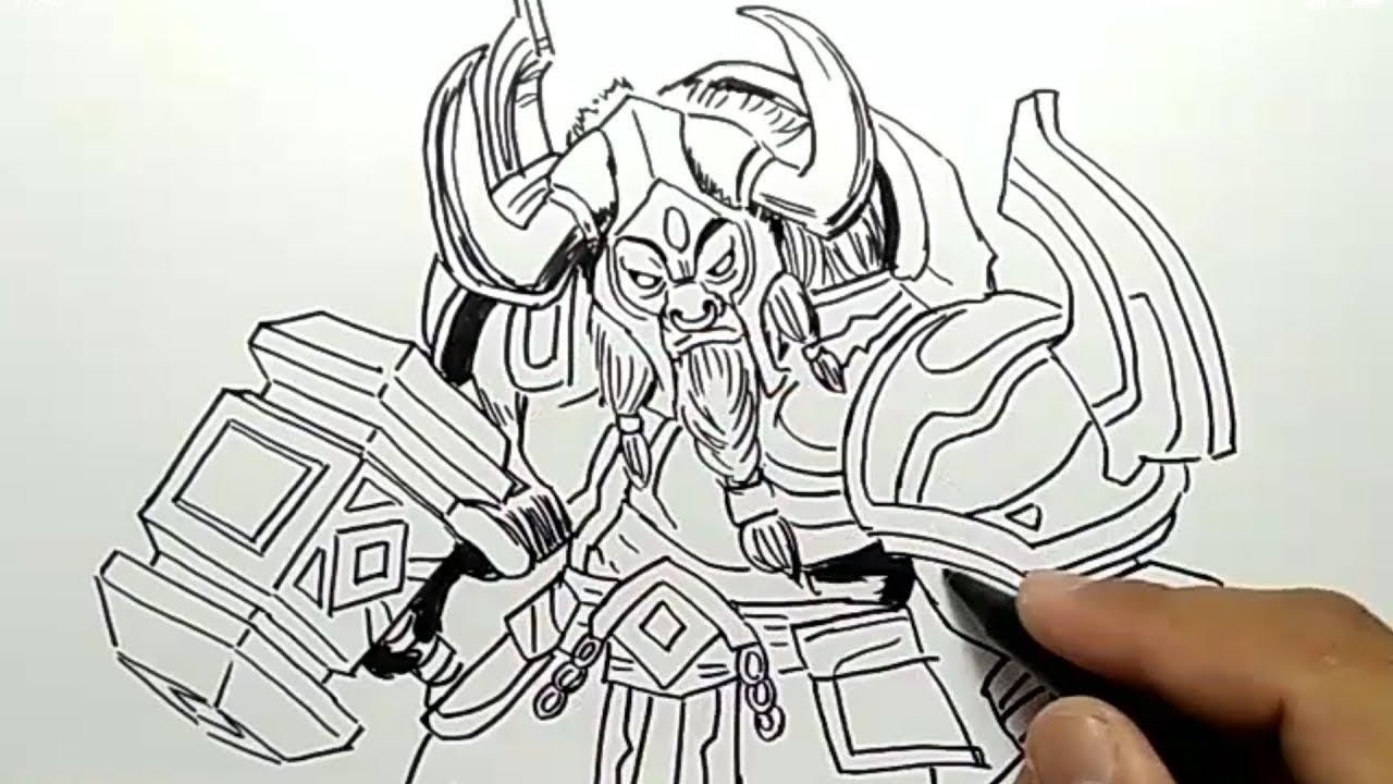 WOW Cara Menggambar MINOTAUR Mobile Legend How To Draw Minotaur Mobile Legend YouTube