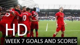 English premier league | matchweek 7 goals and scores hd