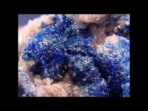 Mining linarite crystals from the Blanchard Mine