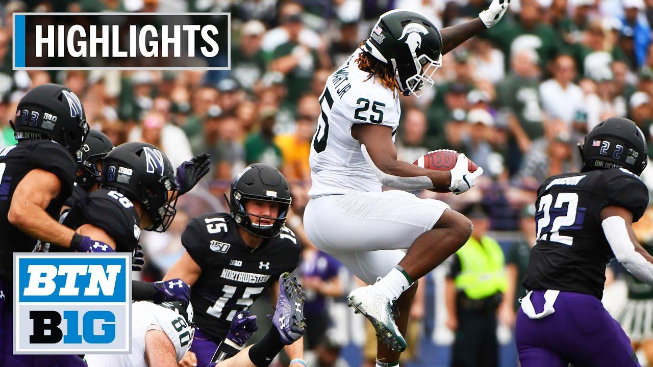 Michigan State vs. Northwestern football video highlights, score