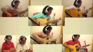 Overjoyed by Stevie Wonder /Ruben Diaz arr. 5 guitars + Simplicio 1932 Andalusian/ Flamenco Version