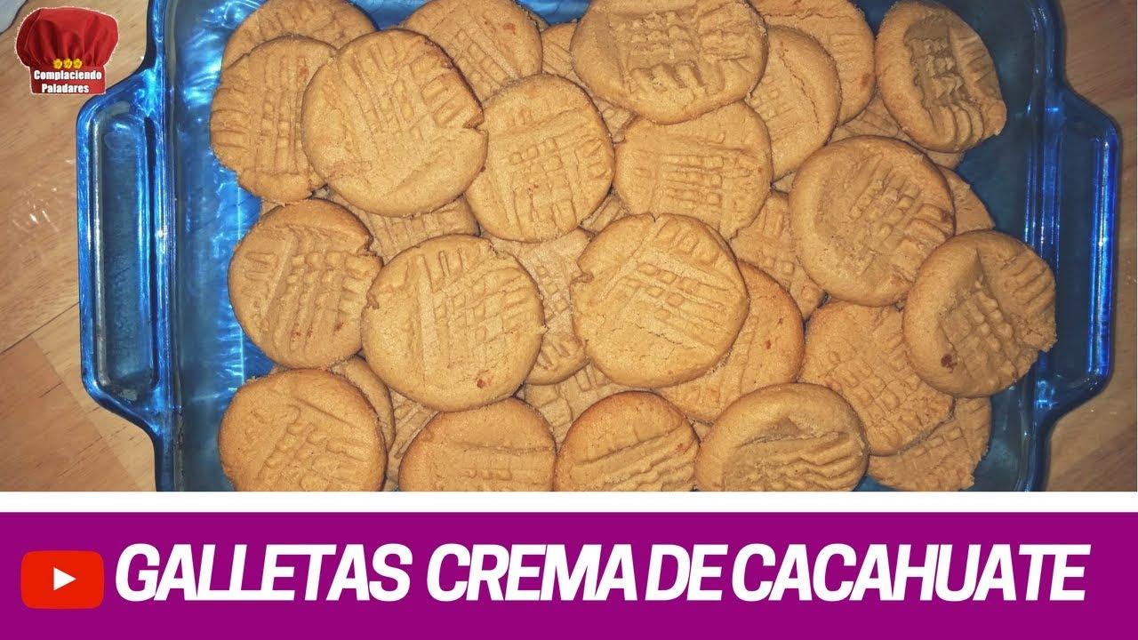 Galletas De Crema De Cacahuate Receta Complaciendo Paladares Youtube