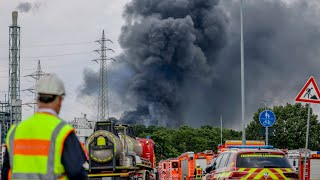 video: Explosion at German chemical complex leaves two dead and more than 30 injured