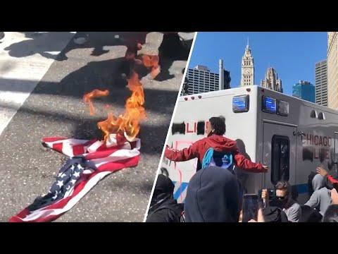 Акции протеста против жёстких действий полиции в США — видео