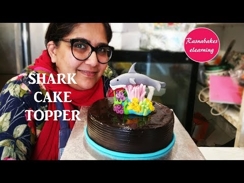 how-to-make-baby-shark-cake-topper-design-ideas-decorating-tutorial-video-at-home