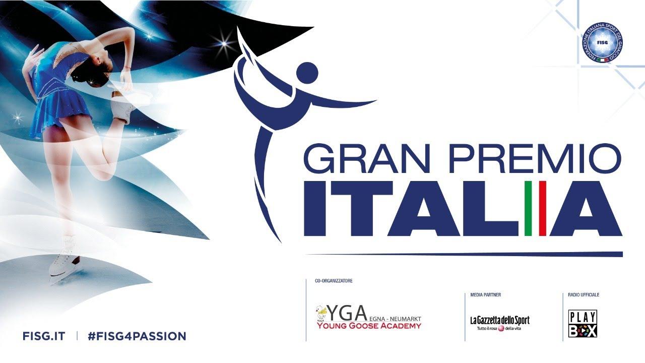 Fisg Calendario Gare 2021-2022 Gran Premio Italia seconda tappa. Free Program in diretta