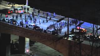 Cops ruin 6th street bridge farewell gathering in Los Angeles