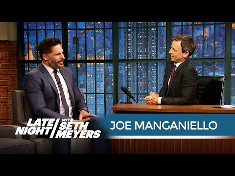 Joe Manganiello Does His Best Pittsburgh Accent - Late Night with Seth Meyers