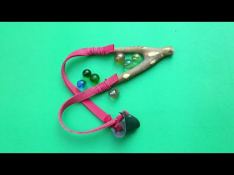 How To Make A Slingshot/Catapult   Amazing Slingshot Hunting Traditional