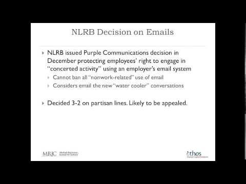 Webinar New Laws New Year 2015