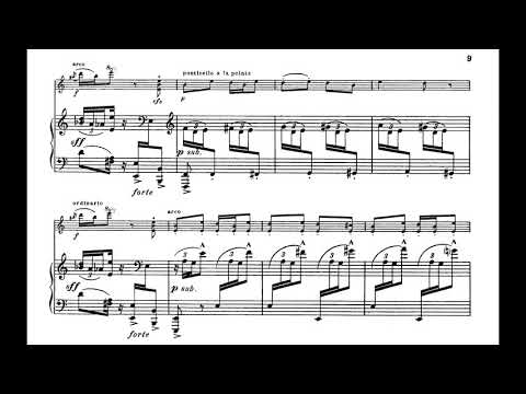 Igor Stravinsky - Danse Russe (from Petrushka) for Violin and Piano (1910) [Score-Video]