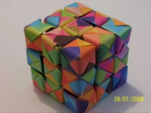 new origami rubik 39 s cube youtube. Black Bedroom Furniture Sets. Home Design Ideas