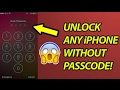 How to UNLOCK any iPhone WITHOUT PASSCODE!!!!
