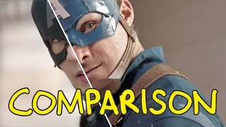 Captain America: Civil War - Homemade Side by Side Comparison