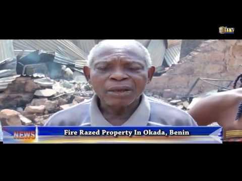 Fire razes property in Okada, Benin